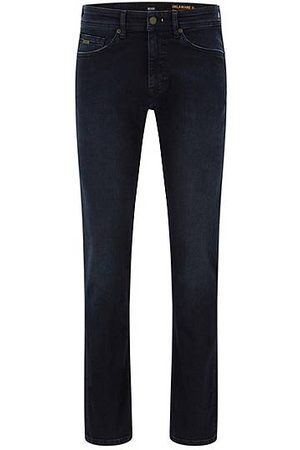 HUGO BOSS Herren Slim - Slim-Fit Jeans aus dunkelblauem Super-Stretch-Denim