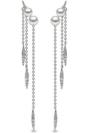 Yoko London 18kt Trend Weißgoldohrringe mit Süßwasserperlen und Diamanten