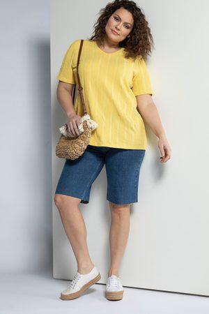 Ulla Popken Jeans-Bermuda, Damen, lila