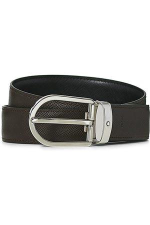 Montblanc Herren Gürtel - Reversible Saffiano Leather 30mm Belt Black/Brown