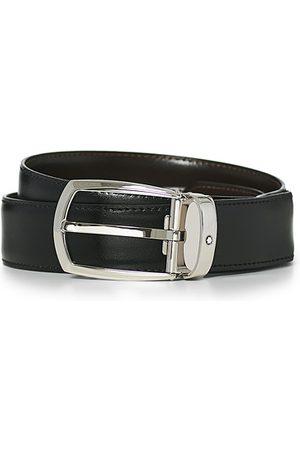 Montblanc Herren Gürtel - Oblong Horseshoe Buckle 30mm Belt Black