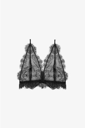 ANINE BING Damen Sport BHs - Delicate Lace Bra In Black