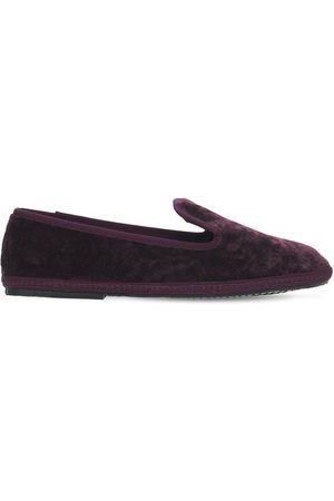 "SENTIER 10mm Hohe Loafers Aus Samt ""principe"""