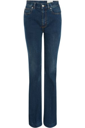 Alexander McQueen Damen Stretch - Stretch Cotton Denim Jeans