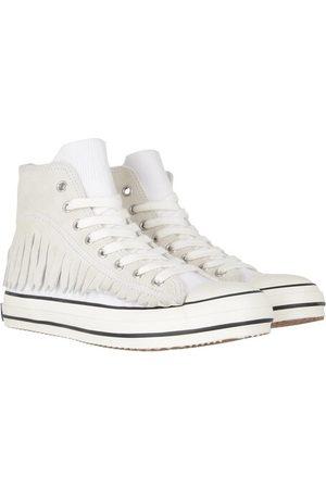 Palm Angels Damen Sneakers - Sneakers Fringe Basket High Vulcanized weiß