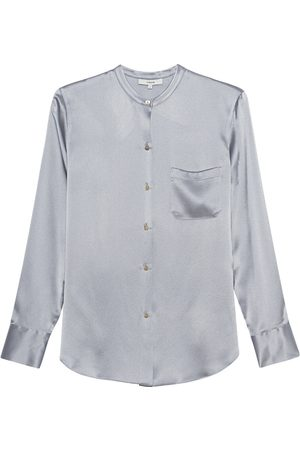 Vince Damen Blusen - Slim Fitted Collar Lilac