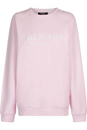 Balmain Sweatshirt Aus Bio-baumwolle Mit Logodruck
