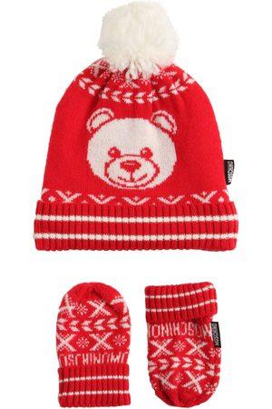 Moschino Mädchen Mützen - Mütze Und Handschuhe Aus Wollmischung