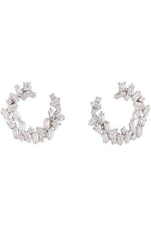 Suzanne Kalan Ohrringe Chloé aus 18kt Weißgold mit Diamanten