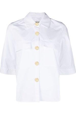 MAX & MOI Damen Blusen - Luna Hemd mit kurzen Ärmeln