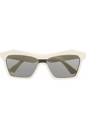 Bottega Veneta Sonnenbrille mit eckigem Gestell