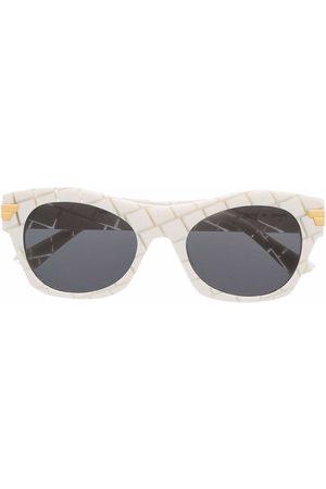 Bottega Veneta Sonnenbrille mit geometrischem Gestell