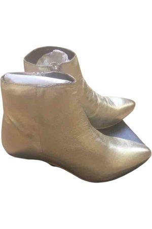 Manoukian Damen Stiefeletten - \N Stiefeletten in Leder