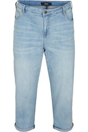 Zizzi 7/8-Jeans Größe Größen Damen 7/8-Jeans mit hoher Taille