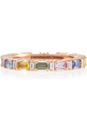 Suzanne Kalan Ring Rainbow Fireworks aus 18kt Rosé mit Diamanten und Saphiren