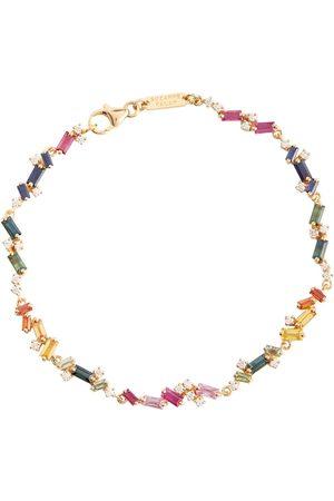 Suzanne Kalan Armband Fireworks aus 18kt Gelbgold mit Diamanten und Saphiren