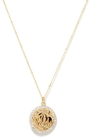 Mateo Taurus Large Diamond & 14kt Zodiac Necklace