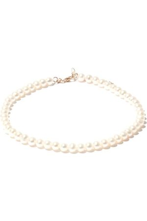 Mateo Not Your Mother's Pearl & 14kt Anklet