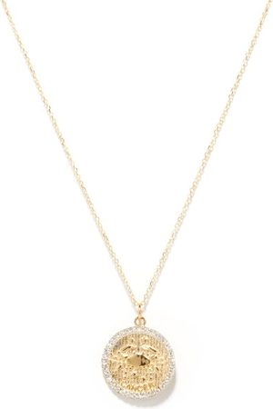 Mateo Cancer Large Diamond & 14kt Zodiac Necklace