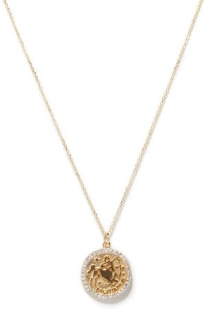 Mateo Saggitarius Large Diamond & 14kt Necklace