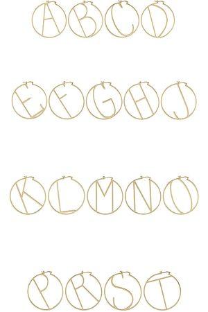 Retrofete Hoop Alphabet Earring in . Size J, K, M, S.