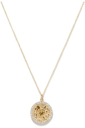 Mateo Leo Large Diamond & 14kt Zodiac Necklace