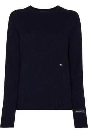 HOMMEGIRLS Damen Strickpullover - Pullover mit Logo-Stickerei