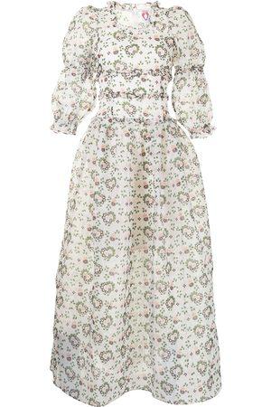 Shrimps Damen Cocktailkleider - Gestuftes Kleid mit Frilly Heart-Print