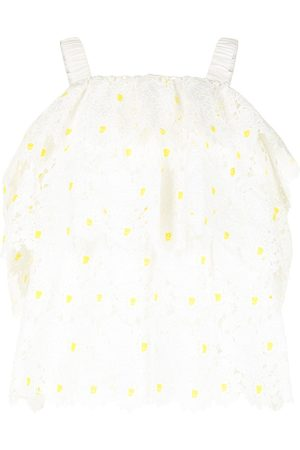 BAPY BY *A BATHING APE® Schulterfreie Bluse mit floraler Stickerei