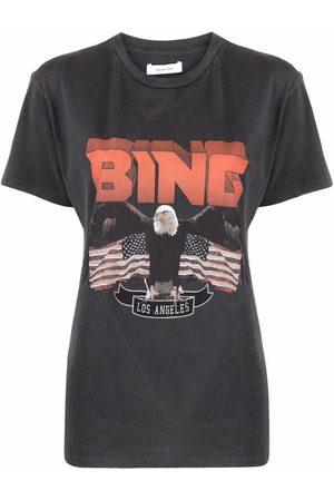 ANINE BING T-Shirt mit Logo-Print