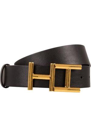 Hemisphere Fein genarbtes Leder. Goldfarbene Logo-Schließe. Made in Italy. - Breite: 3,5 cm