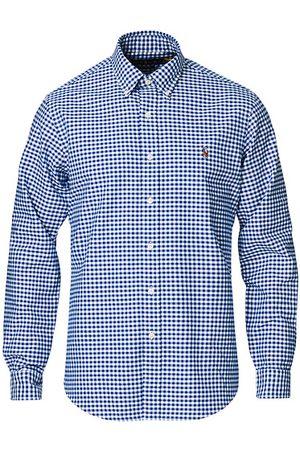 Polo Ralph Lauren Herren Poloshirts - Custom Fit Oxford Gingham Shirt Blue/White