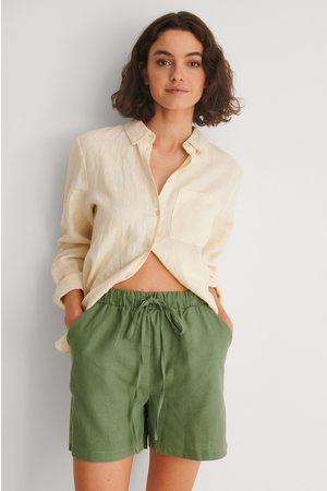 Trendyol Kurze Hose Mit Taillenschnürung - Green
