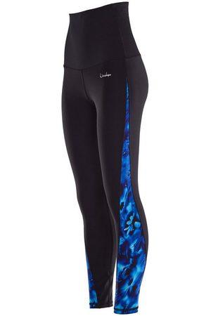 Winshape Leggings »HWL109-Blue-Rainflowers« Core-Stability-Bund mit Bauch-Weg-Effekt