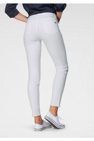 ARIZONA Skinny-fit-Jeans »knöchellang mit Fransensaum« Mid Waist