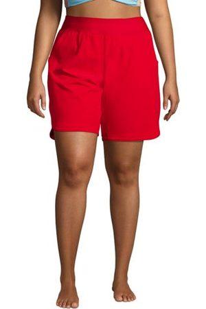 lands end Badeshorts 23 cm in großen Größen, Damen, Größe: XL Plusgrößen, Rot, Polyester-Mischung, by Lands' End