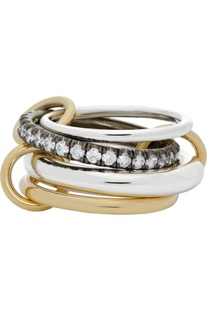 SPINELLI KILCOLLIN Silver & Gold Janssen Four-Link Ring
