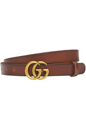 "Gucci Damen Gürtel - 2cm Breiter Ledergürtel ""gg Marmont"""