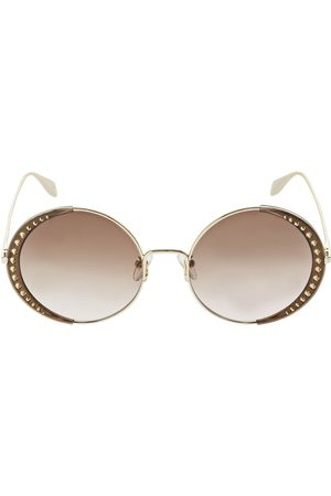 Alexander McQueen Runde Metall-sonnenbrille Mit Nieten