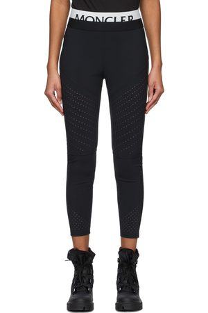 Moncler Black Logo Sport Leggings
