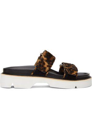 DRIES VAN NOTEN Herren Sandalen - Brown & Black Calf-Hair Cheetah Sandals
