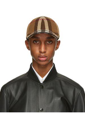 Burberry Brown Wool Check Baseball Cap