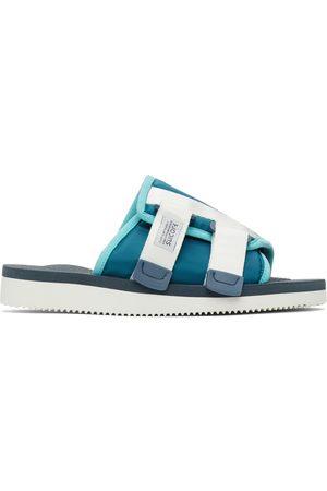 SUICOKE Blue & Navy KAW-CAB Sandals