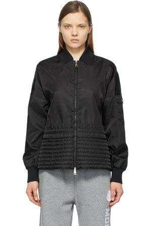 Moncler Damen Sommerjacken - Black Peplum Baldah Jacket