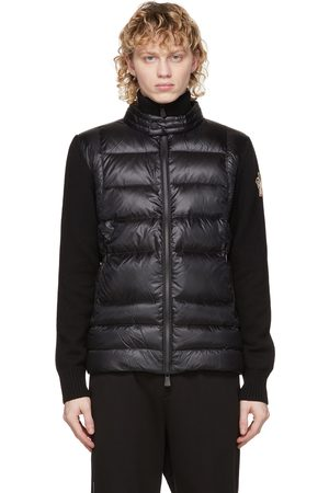 Moncler Herren Strickjacken - Black Down Padded Cardigan Jacket
