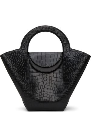Bottega Veneta Damen Shopper - Black Croc Top Handle Tote