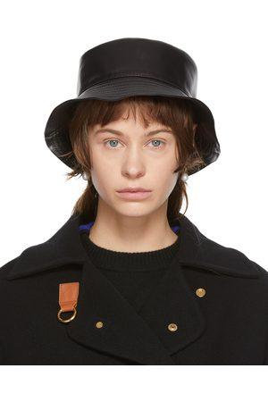 Loewe Damen Hüte - Black Leather Fisherman Hat