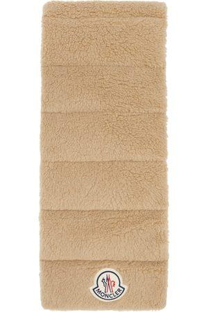 Moncler Beige Wool Logo Scarf