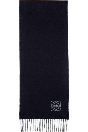 Loewe Damen Schals - Navy & Blue Wool Anagram Scarf
