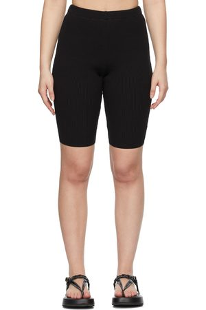 MERYLL ROGGE Black Rib Knit Bike Shorts